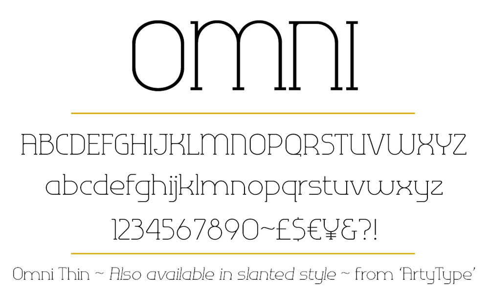Omni serif Thin