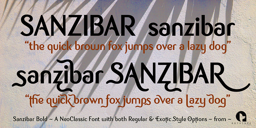 Sanzibar 2 styles bold
