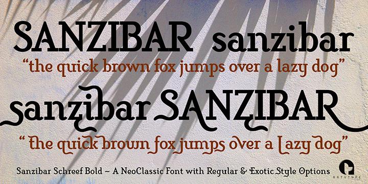 Sanzibar Schreef Bold styles