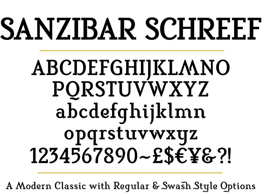 Sanzibar Schreef set Bold