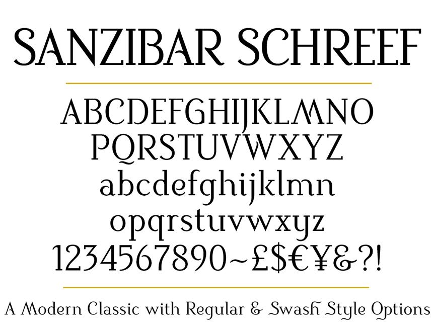 Sanzibar Schreef set